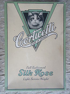 Old Vintage Corticelli Silk Hose Advertising Cardboard box