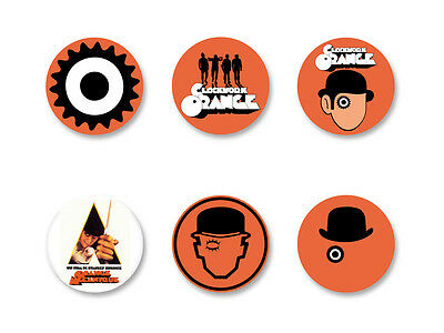 Lot Pack Badge Button Ø25mm Film Movie Orange mécanique A Clockwork Orange
