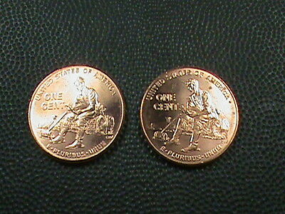 UNITED STATES  1 cent  2009   P & D , BRILLIANT UNCIRCULATED ( TWO  COINS )  # 3