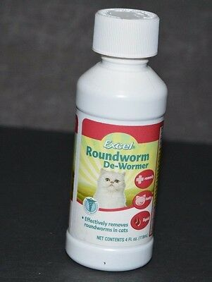 Round Worm De-Worm Excel, For Cats ( 4 Fl Oz) Removes Roundworms In Cats