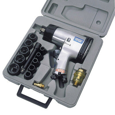 """Draper Tools 15 Piece 1/2"""" Square Drive Heavy Duty Air Impact Wrench Kit - 55360"""