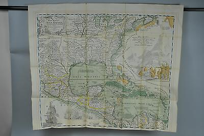 Mexico Southern United States Lithograph Map Print A