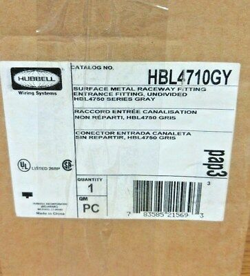 Wiremold - Hubbell Wiring Systems Hbl4710Gy Steel Metal Raceway Fitting