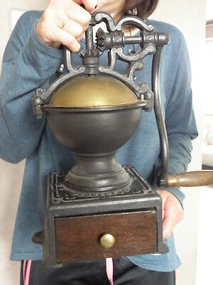 Antique Cast Iron French Coffee Grinder mill Peugeot a1 Kaffeemühle malino retro
