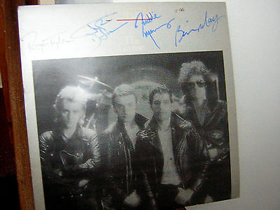 Queen Signed Lp The Game Freddie Mercury Brian May Grey Cover