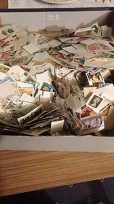 400g world stamps off paper