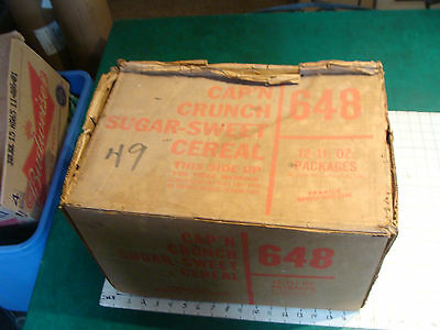 v scare 1971 CAP'N CRUNCH CEREAL STORE BOX held 12-11 1/2 oz boxes, as found