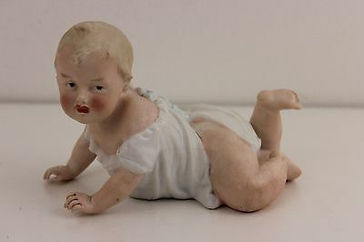 Gebruder Heubach Germany Bisque Porcelain Crawling Piano Baby 341-- 13cm Length