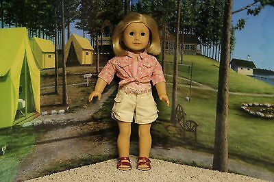 "American Girl Nicki ""Tie Top & Shorts Outfit"" - COMPLETE - EUC"