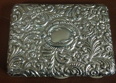 Silver Edwardian Card Case 1904. Colen Hewen Cheshire. Fully Hallmarked. Chester