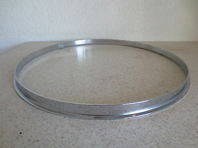 "Slingerland Radio King Rim Hoop Single Flange 14"" -1950s/ 60s Chrome Over Brass!"