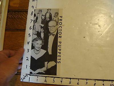 Vintage MARIONETTE Paper: PROCTOR PUPPETS brochure, Springfiled Ill.