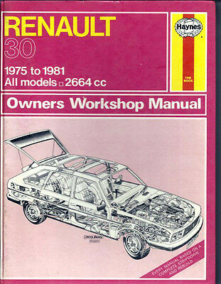 Haynes Workshop Manual Renault 30 1975-1981