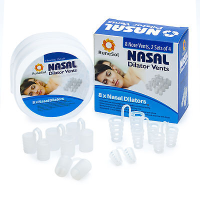 ANTI SNORING DEVICES 8 x NASAL DILATORS By RuneSol - Snore Stopper Vents