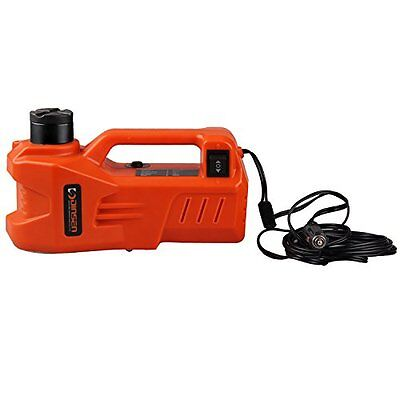 DINSEN 12V DC Electric Hydraulic Car Floor Jack with LED light (6.1-17.3 inch)