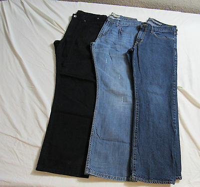 Lot of 3 Pair Men's Jeans Size 32x30 : Old Navy Wrangler Rinse Request : 6017