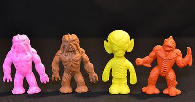 "Vtg Set of 4 Diener 2"" Rubber Alien Monsters Invasion of the Saucer Man Ymir Toy"