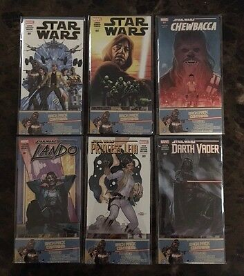 2016 IDW Star Wars Icons Micro Comic Book Packs Complete Set (6) Cards Posters