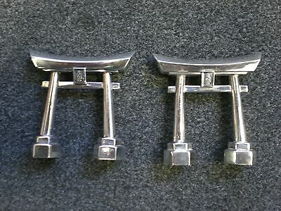 Japanese Shinto Gate Salt and Pepper Shakers 970 Sterling Silver