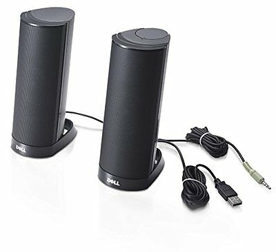 Dell Computer Speakers AX210 USB Stereo Speaker System Black Desktop Accessories