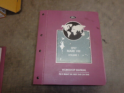 Ford Factory Workshop Manual Lincoln Mark VIII 97 98 Volume One