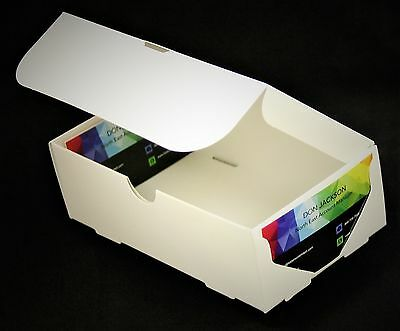 300 - 500 count White/White Business Card Boxes