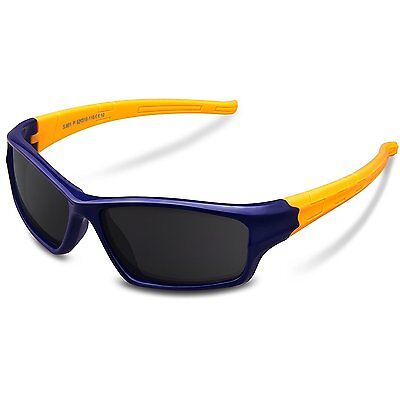 COSVER KD081 Rubber Flexible Kids Polarized Sunglasses for Baby and Children Age