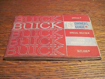 1963 Buick Special Skylark Special Deluxe Owners Manual