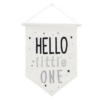 """NoJo The Dreamer Collection Black/White """"Hello Little One"""" Wall Banner"""