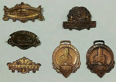 Assorted FASNY Convention Medal Parts