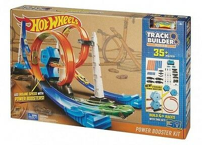 Hot Wheels DGD30 Track Builder System Power Booster Kit Car Racing Boys Fun Game
