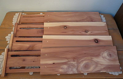 Expandable Spring Cedar Drawer Dividers Set of 4