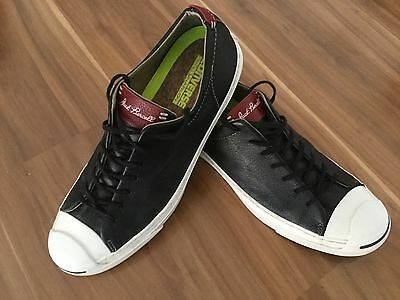 Converse  Jack Purcell With Lunarlon Black Leather Men Size Us 10 Near New