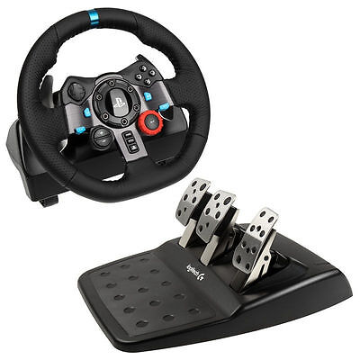 Logitech G29 Driving Force Racing Wheel and Pedals (PS4, PS3) UK-Plug