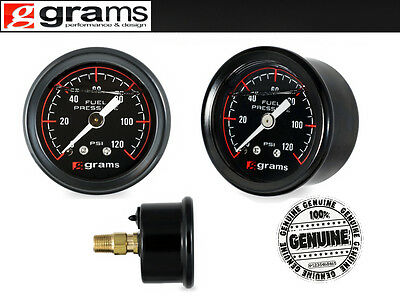 GRAMS Fuel Pressure Gauge 0-120psi Black G2-99-1200