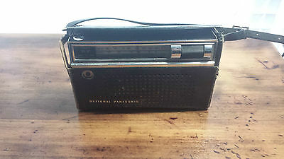 Vintage Retro ~ National Panasonic Portable Radio With Black Case