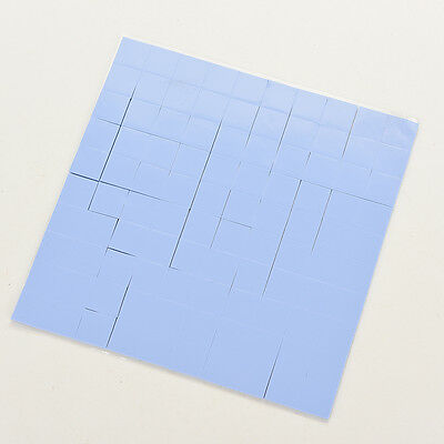100X 10x10x1mm Silicon Chip Thermal Pad Heatsink Conductive Insulation Paste CC