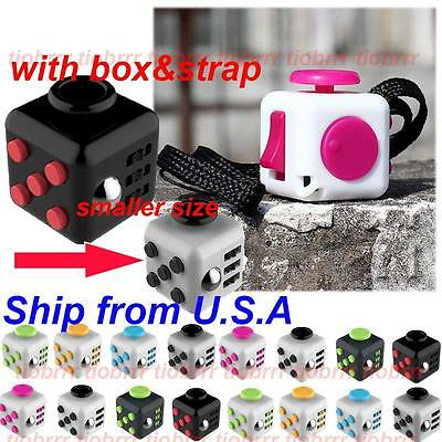 Size 2cm Magic Cube Anti-anxiety Adults Stress Relief Child's Toy +Strap w/Box