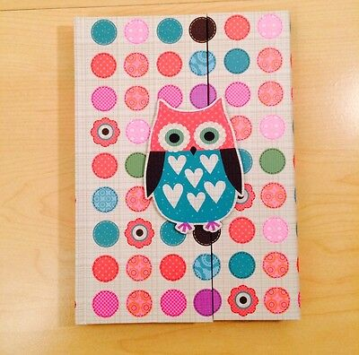 OWL Diary Journal Note book note pad Lined Pages Travel New
