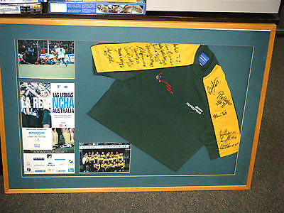 1998 Australian Hockeyroos Squad Fully Signed & Framed Shirt & Photos
