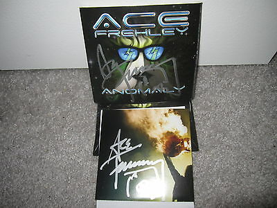 Kiss Signed Anomaly Ace Frehley Autograph Cd Simmons Stanley Rnr 2 Items Proof