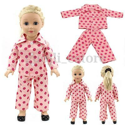 New Pink Pajamas Nightgown Clothes for 18 Inch Our Generation American Girl Doll