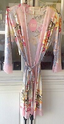 New Peter Alexander Baroque  Floral & Lace Summer Gown Size XS