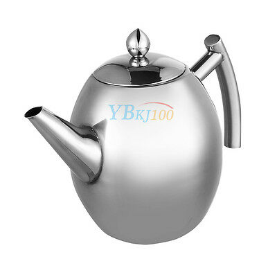 1000ML Stainless Steel Jug Container with Infuser Coffee Tea Leaf Filter Herbal