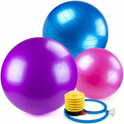 Crown Sporting Goods SEBL-001 Yoga Ball and Core Stability Balance Trainer with