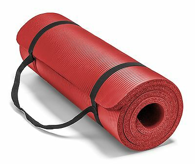 Spoga Premium 1/2-Inch Extra Thick High Density Exercise Yoga Mat with Carrying