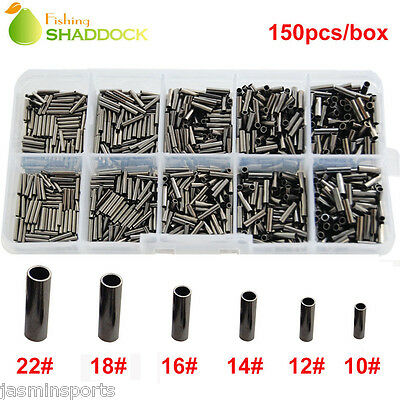 150pcs Single Barrel Crimping Sleeves 100% Copper Tube Connector Size 0.6-1.7mm