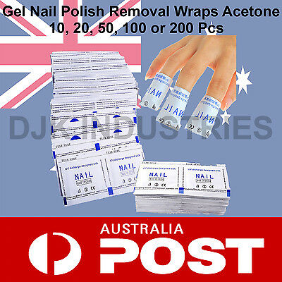 Gel Nail Polish Removers Removal Wraps Acetone Pads Foil Art Cleaner 10 200 Pcs