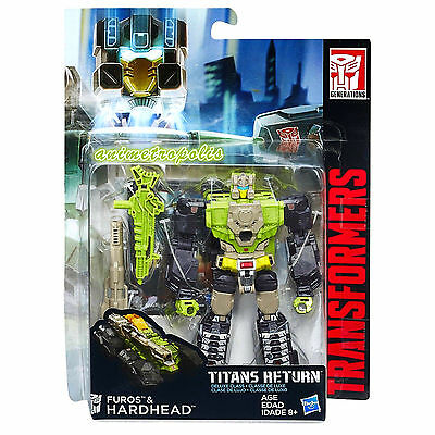 Hasbro Transformers Generations Titans Return Deluxe Furos & Hardhead Action