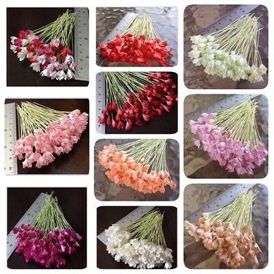 50 Artificial Mulberry Paper Flowers Craft DIY Gypso Handmade Scrapbooking 8 mm.